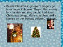 Before Christmas, groups of singers go from house to house. They collect mone...