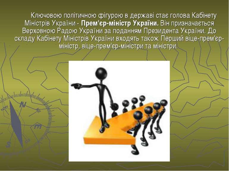 Ключовою політичною фігурою в державі стає голова Кабінету Міністрів України ...