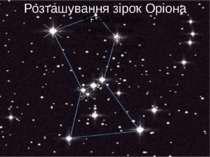 Розташування зірок Оріона