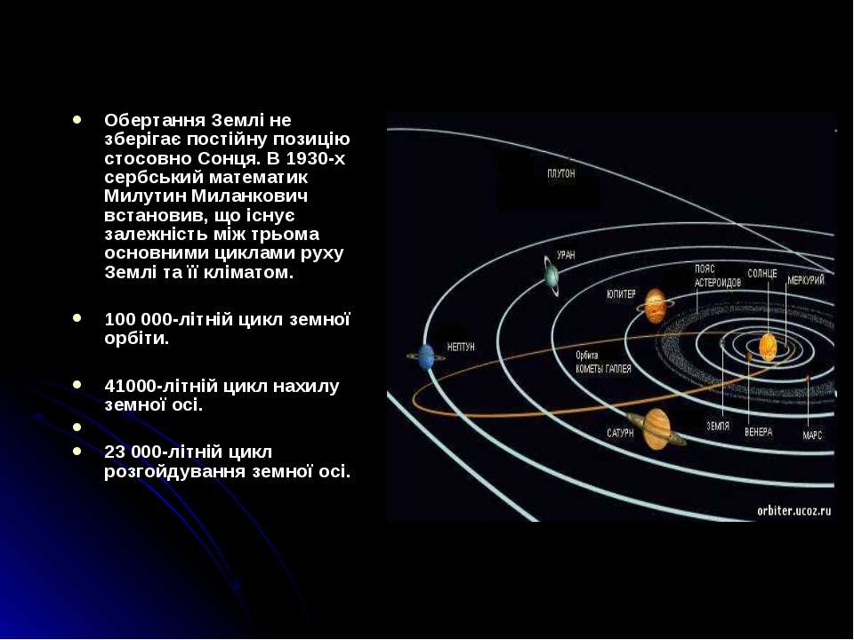 Обертання Землі не зберігає постійну позицію стосовно Сонця. В 1930-х сербськ...