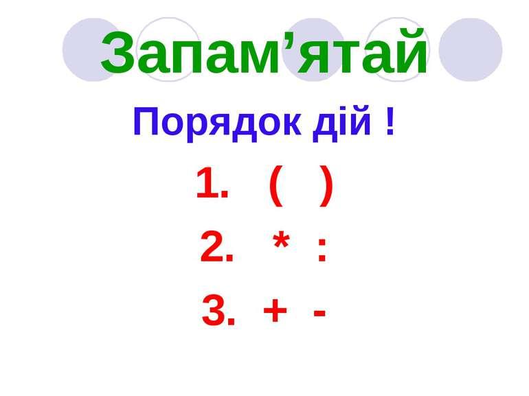 Знаходження значень виразів із діями різного ступеня. Розв ...