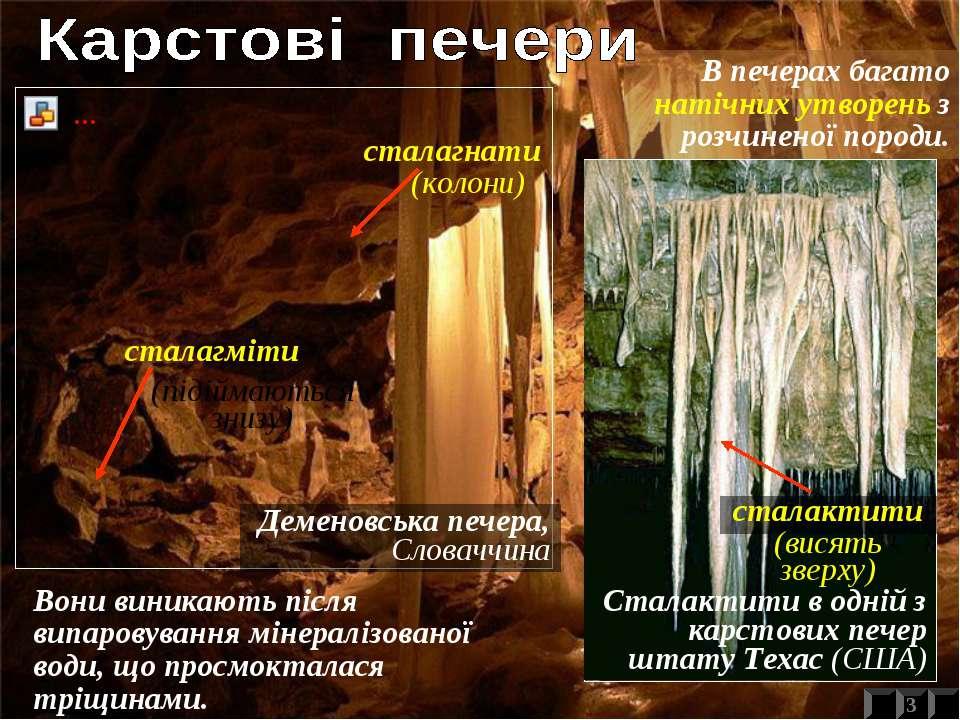 Деменовська печера, Словаччина Сталактити в одній з карстових печер штату Тех...