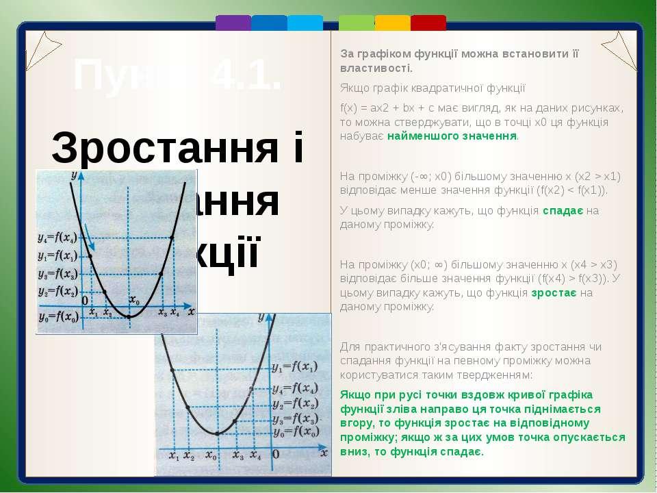 Пункт 4.1. Приклади дослідження функцій Розв'язання. Оскільки а = 1,5 > 0, то...