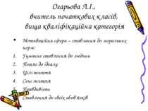 Огарьова Л.І., вчитель початкових класів, вища кваліфікаційна категорія Мотив...