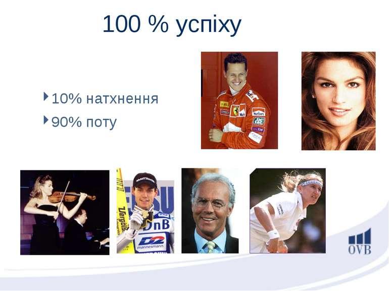10% натхнення 90% поту 100 % успіху