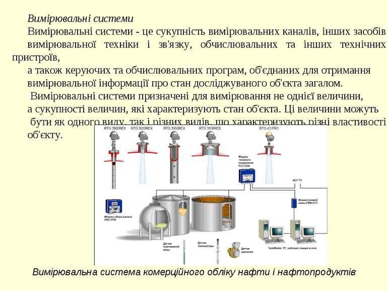 Вимірювальні системи Вимірювальні системи - це сукупність вимірювальних канал...