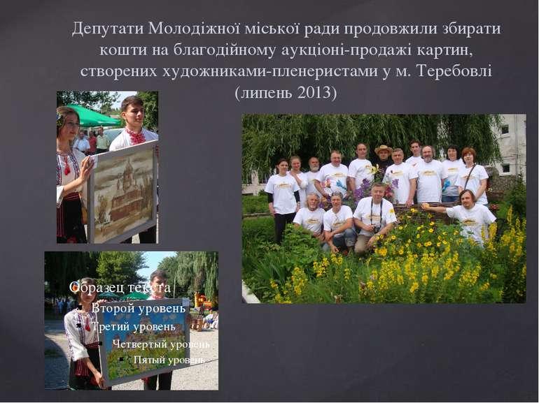 Депутати Молодіжної міської ради продовжили збирати кошти на благодійному аук...