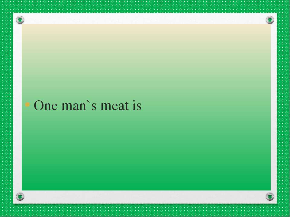 one mans meat essay