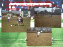 Eleven members of each team defend their side of the field from the ball of t...