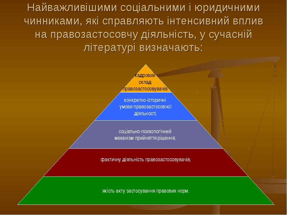 Найважливішими соціальними і юридичними чинниками, які справляють інтенсивний...