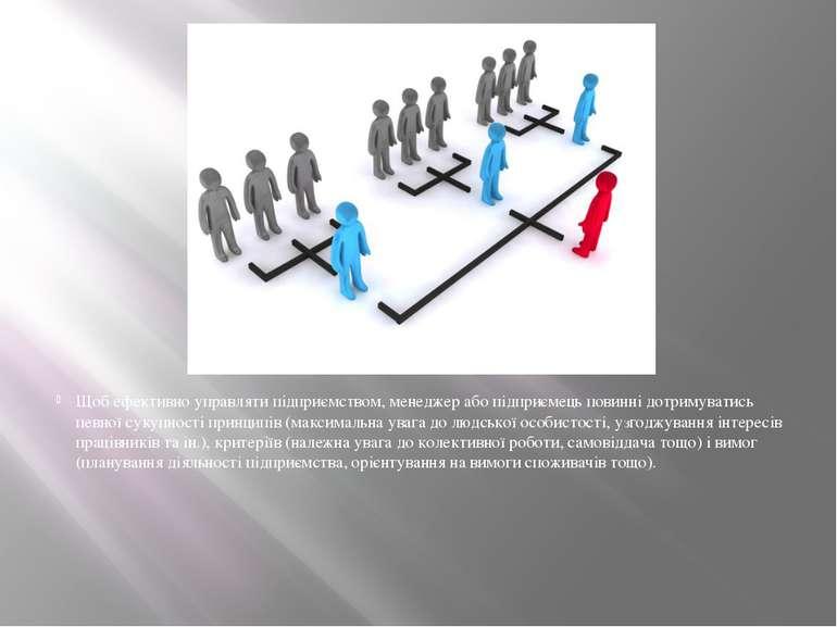 Щоб ефективно управляти підприємством, менеджер або підприємець повинні дотри...