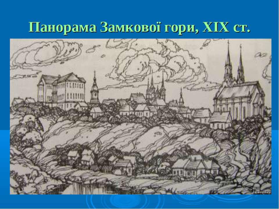 Панорама Замкової гори, ХІХ ст.