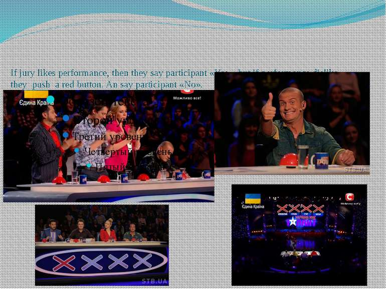 If jury likes performance, then they say participant «Yes», but if performanc...