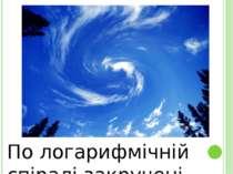 По логарифмічній спіралі закручені хмари.