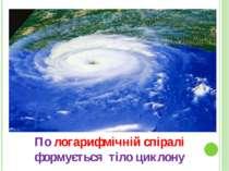 По логарифмічній спіралі формується тіло циклону