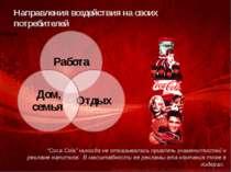 """Направления воздействия на своих потребителей """"Coca Cola"""" никогда не отказыва..."""
