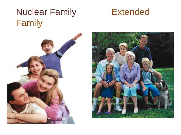 Nuclear Family Extended Family