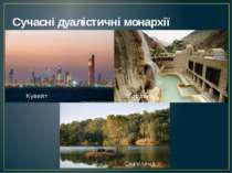 Сучасні дуалістичні монархії Кувейт Йорданія Свазіленд