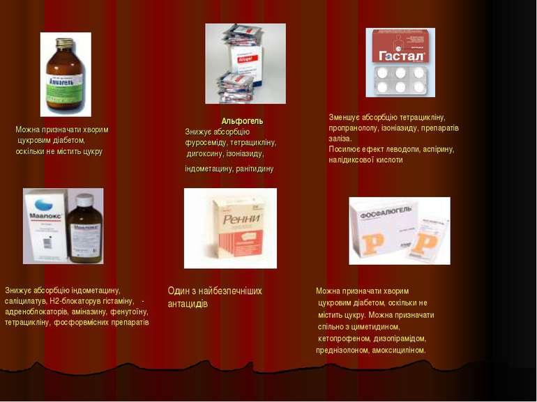 Можна призначати хворим цукровим діабетом, оскільки не містить цукру Альфогел...