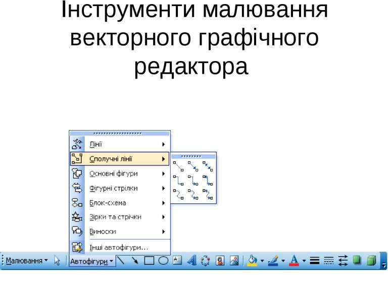Інструменти малювання векторного графічного редактора