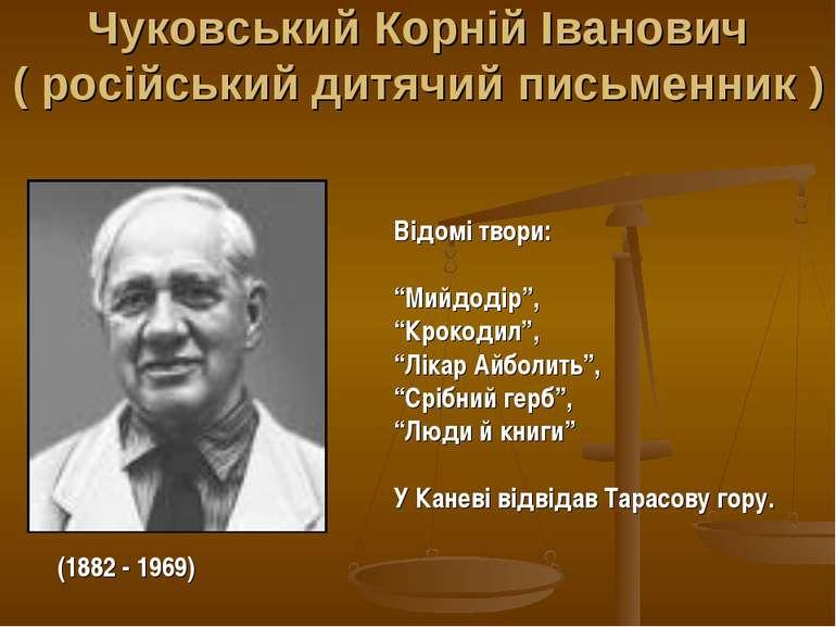 Чуковський Корній Іванович ( російський дитячий письменник ) (1882 - 1969) Ві...