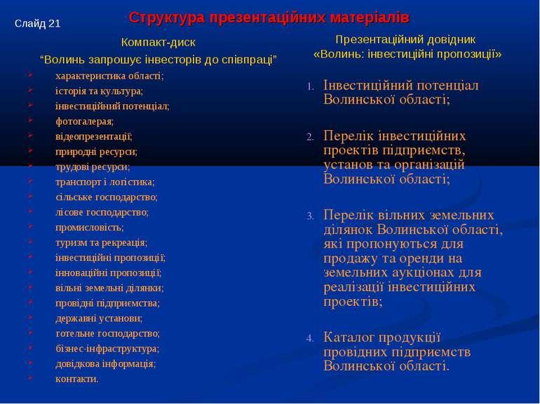 """Компакт-диск """"Волинь запрошує інвесторів до співпраці"""" характеристика області..."""
