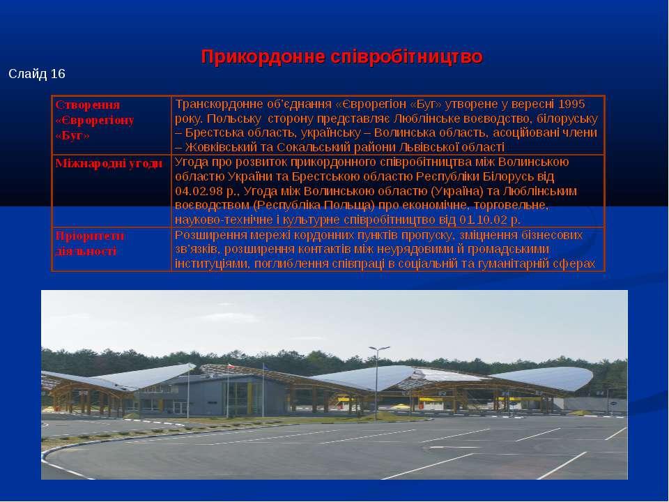 Прикордонне співробітництво Слайд 16