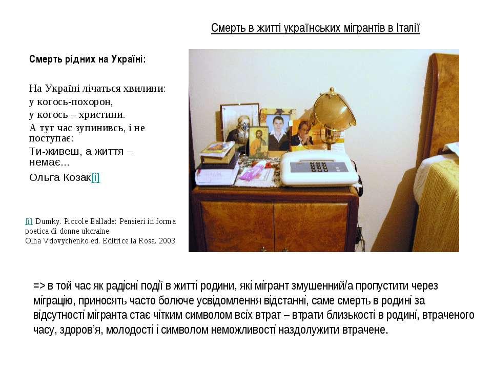 Смерть в житті українських мігрантів в Італії Смерть рідних на Україні: На Ук...