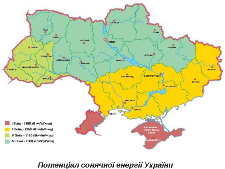 Потенціал сонячної енергії України