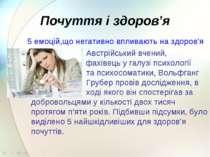 Почуття і здоров'я 5емоцій,що негативно впливають на здоров'я Австрійський в...