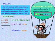 ЗАДАЧА: На яку висоту піднявся літак, якщо за бортом температура повітря стан...