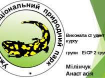 Виконала студентка 2 курсу групи ЕіСР 2 група Мілінчук Анастасія