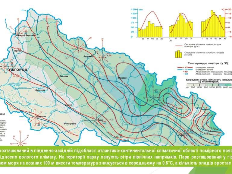 Ужанський НПП розташований в південно-західній підобласті атлантико-континент...