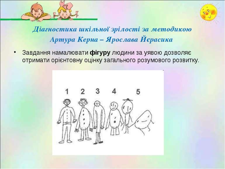 Діагностика шкільної зрілості за методикою Артура Керна – Ярослава Йєрасика З...