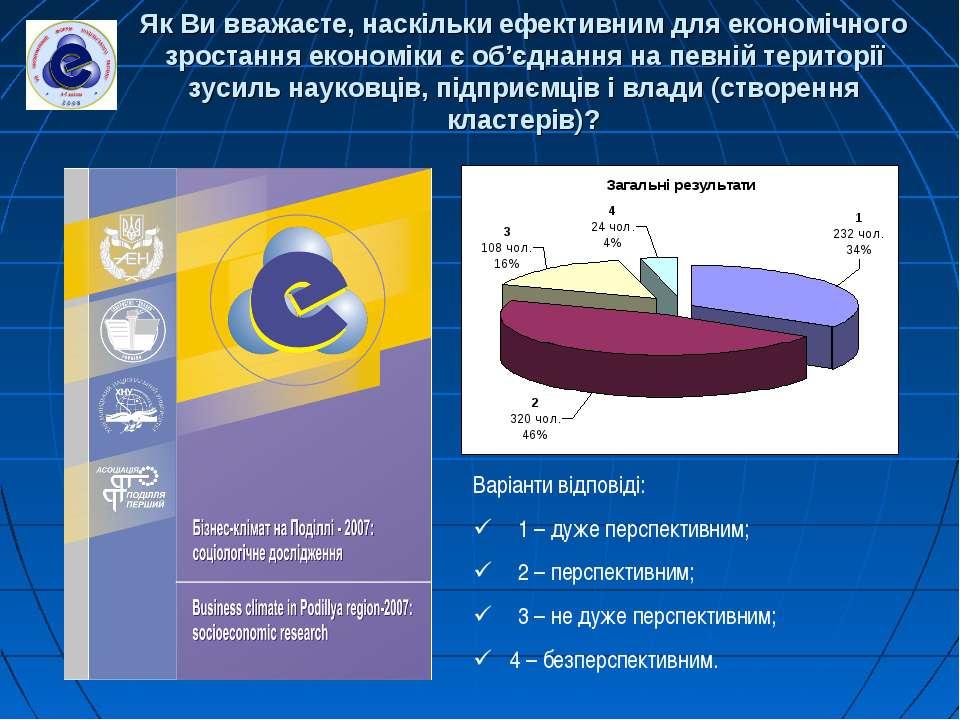 Як Ви вважаєте, наскільки ефективним для економічного зростання економіки є о...