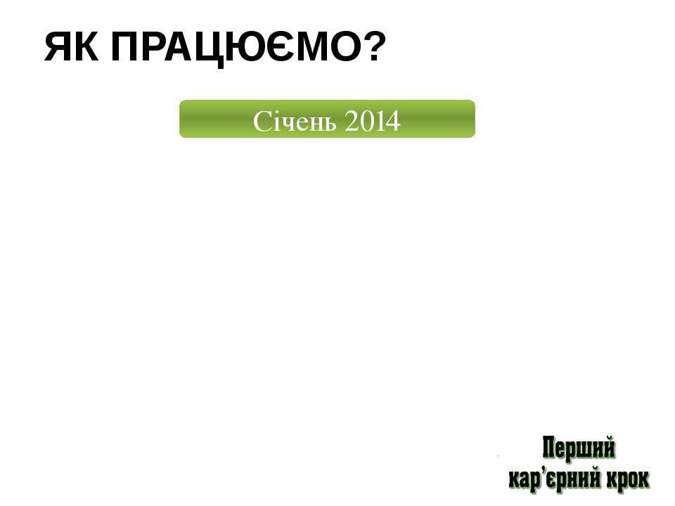 ЯК ПРАЦЮЄМО? Січень 2014