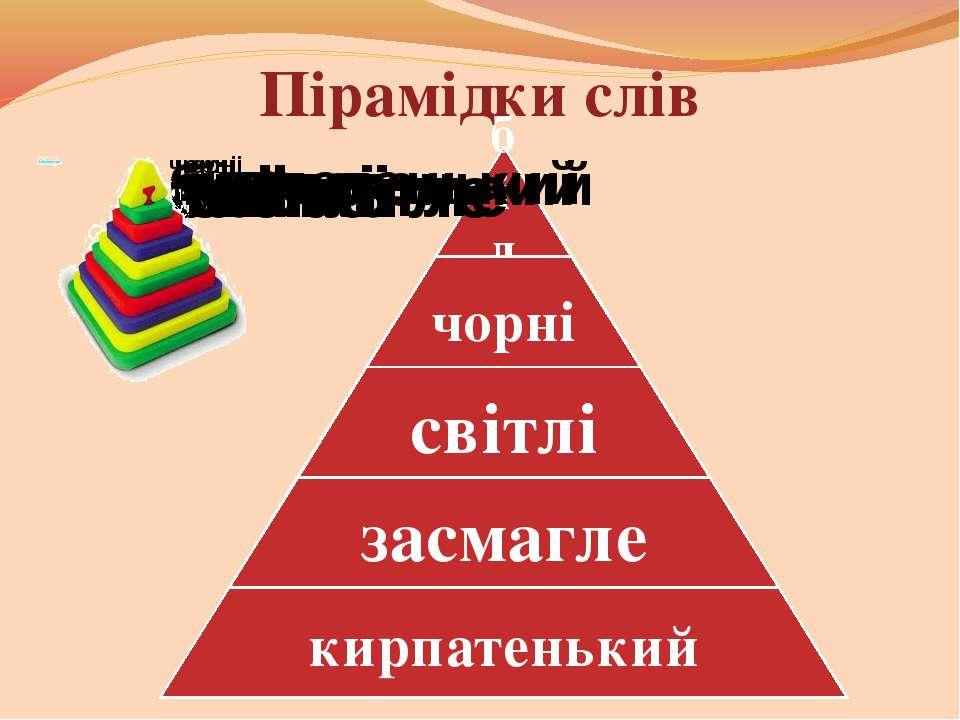 Пірамідки слів