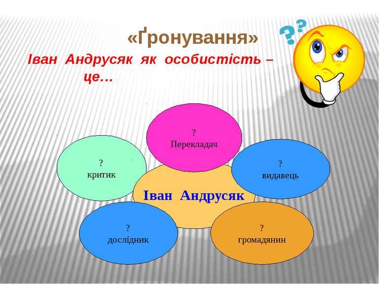 «Ґронування» Іван Андрусяк як особистість – це… ? критик Іван Андрусяк ? Пере...