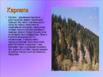 Карпати Карпати – дивовижна перлина в дорогоцінному намисті української приро...