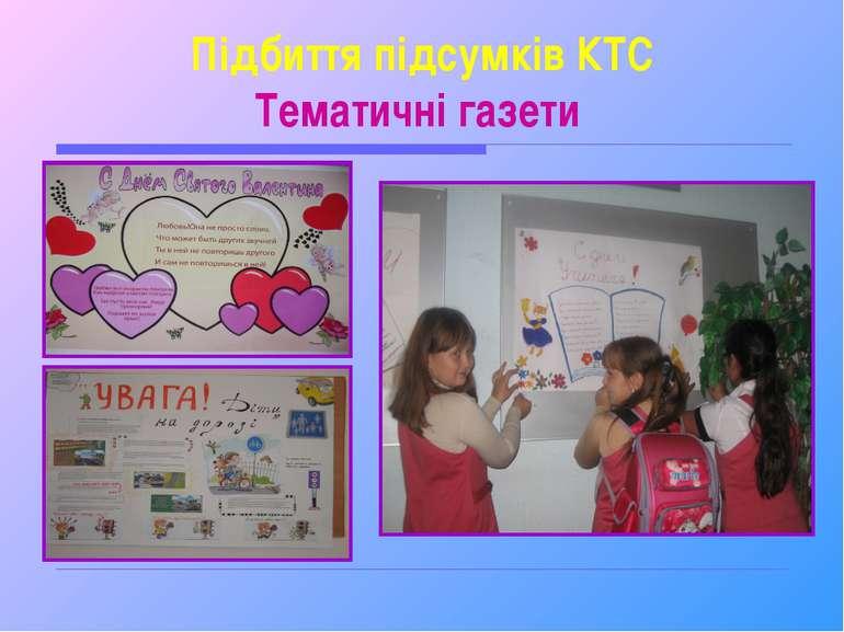 Підбиття підсумків КТС Тематичні газети