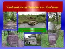 Улюблені місця Пушкіна в м. Кам'янка Скеля Пушкіна на р. Тясмин