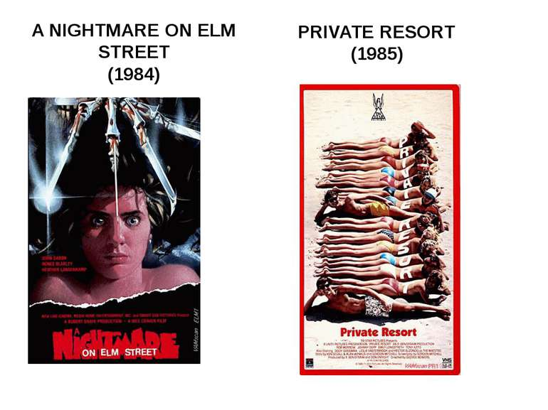 A NIGHTMARE ON ELM STREET (1984) PRIVATE RESORT (1985)