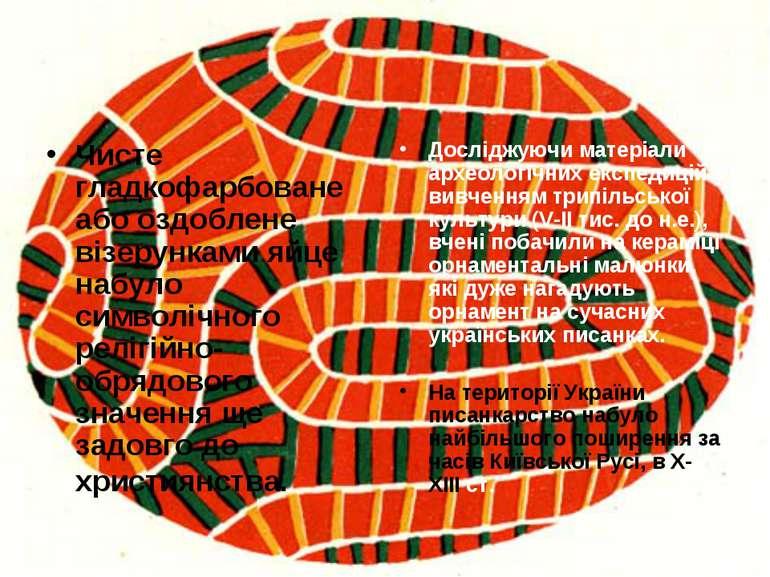 Чисте гладкофарбоване або оздоблене візерунками яйце набуло символічного релі...