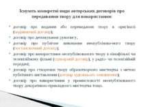 договір про видання або перевидання твору в оригіналі (видавничий договір); д...