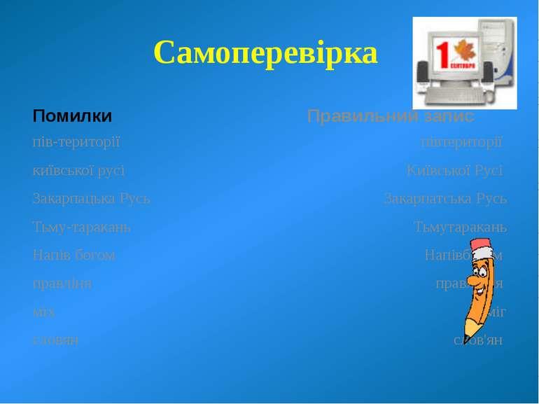 Самоперевірка Помилки пів-території київської русі Закарпацька Русь Тьму тара...
