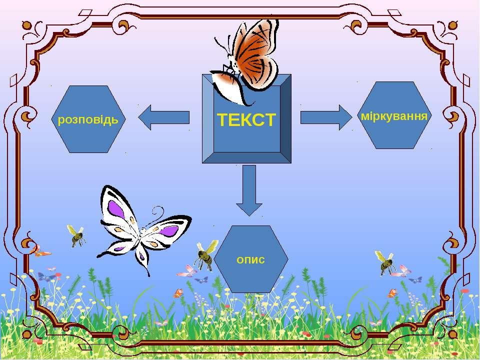 опис розповідь ТЕКСТ міркування