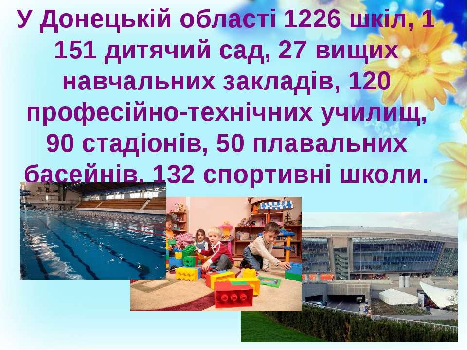 У Донецькій області 1226 шкіл, 1 151 дитячий сад, 27 вищих навчальних закладі...
