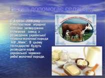 В березні 2008 року Міністерством аграрної політики затверджено племінний зав...