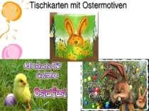 Tischkarten mit Ostermotiven