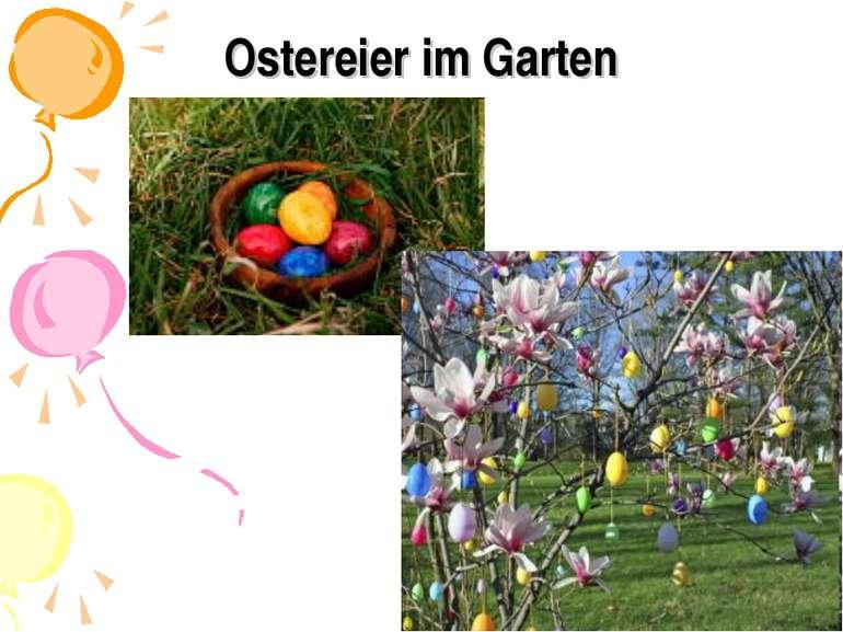 Ostereier im Garten